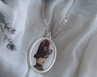 Handmade Victorian Woman Necklace