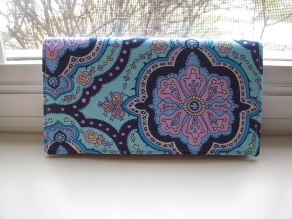 Cloth Passport Cover In Amy Butler Fabric -Last One-
