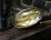 Angel Hair. Golden rutile Quartz Ring In Silver