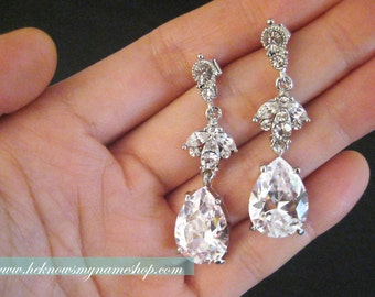 Weddings Bridal Accessories Jewelry Chandelier Earrings (Free U.S. Shipping)  - art deco, art nouveau, rhinestone, crystal
