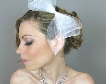 Wedding Accessory Bridal Hair, Audrey Ribbon Headband - fascinator, derby, bridal headband, cocktail hat, racing races, horse hair