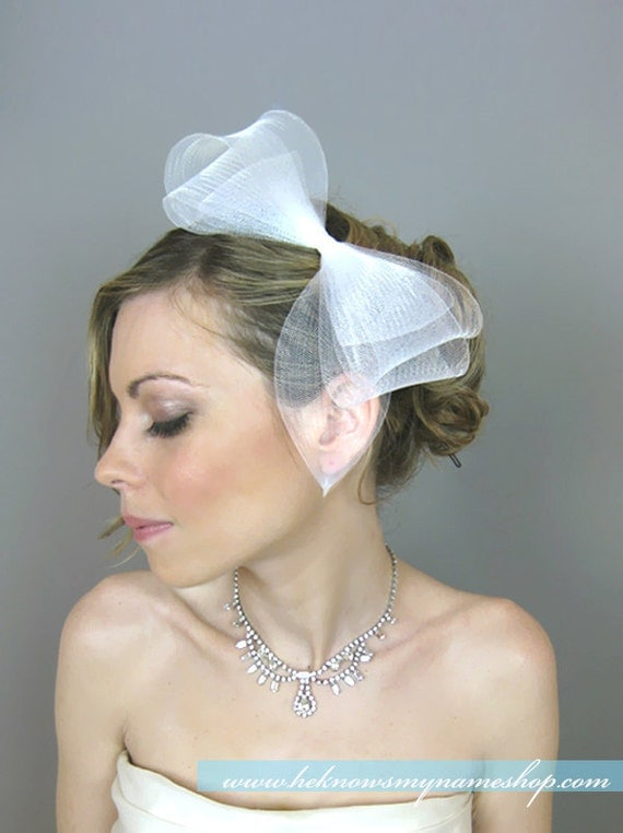 Wedding Accessory Bridal Hair, Audrey Ribbon Headband - fascinator, derby, bridal headband, cocktail hat, racing races, horse hair