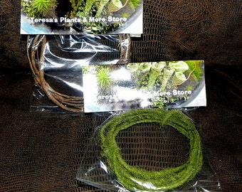 Fairy headband wire-Bark wire 6' section or Moss wire 6' section-Bendable moss wire or Bark vine-Faux Woodland forest