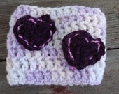 Clearing Out Sale  Purple Suede Hearts Coffee Sleeve  Pair w/ Coffee gift card for a quick gift