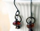 SALE - Red Simphony Earrings