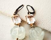 Antiqued Roses Earrings