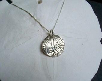 Catch a Wave Necklace - Fine Silver