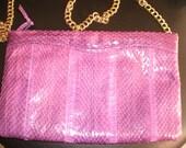 Vintage Fushia Snakeskin purse