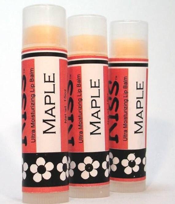 Maple Lip Balm, Kiss, Moisturizing formula, Shea