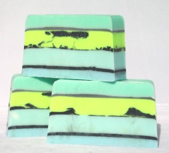 Relax Shea Soap, Handmade glycerin soap, Spa fragrance, tranquil cool colors, shea butter recipe