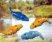 Lampwork Alligator Beads (4)