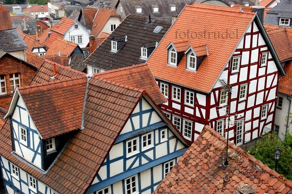 Germany Photograph. Fachwerkhaus / Framework House, Marburg, Germany.