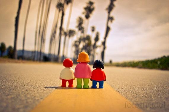 "Calfornia Photograph. Three in Sta. Barbara, California - 8"" x 10"""