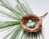 Bird's Nest with Eggs ornament