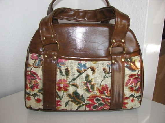 Vintage 1970s Tapestry Purse NWT