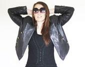 Haute Leather 80s Andrew Marc Rock n Roll Biker Jacket