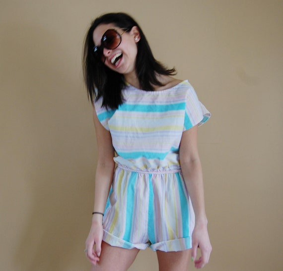 Pastel Striped Romper