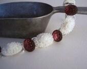 handmade vintage amethyst purple glass cabochon bracelet with sterling silver - Sugar Fields Bracelet
