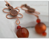 Antiqued Copper Boho Earrings