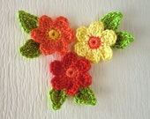 Crochet flowers with leaves-fb-4