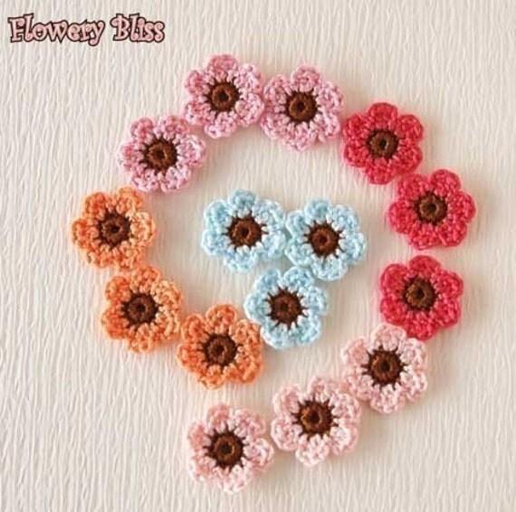 Crochet flower (22mm) - fb-22-17
