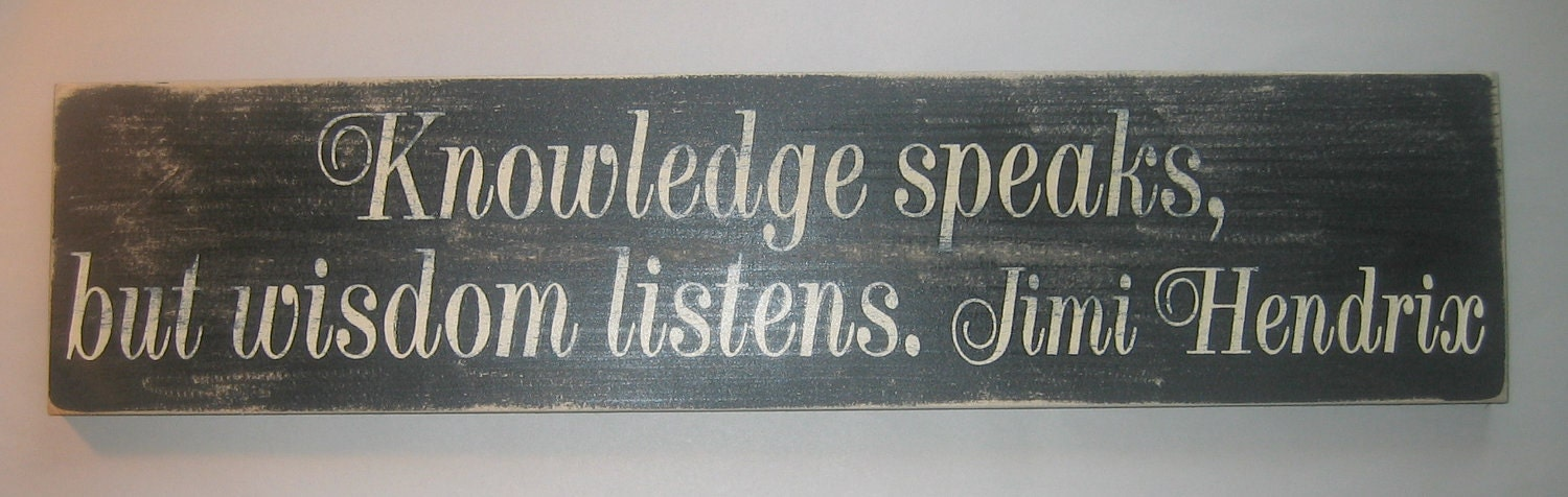 knowledge speaks but - photo #21