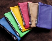Bright Color Leather Change Purse - FREE SHIPPING