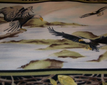 Soaring Eagles Fleece Throw Blanket