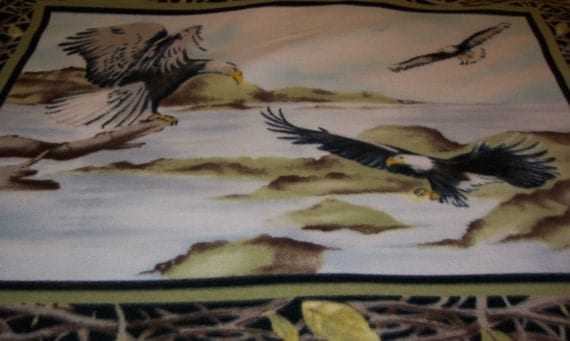 Soaring Eagles Fleece Throw Blanket