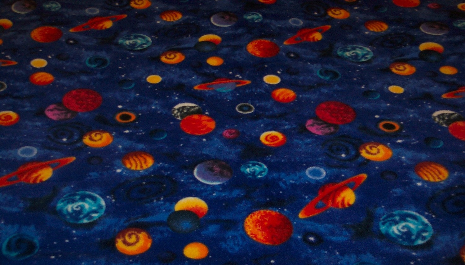 planets and outer space fleece throw blanket