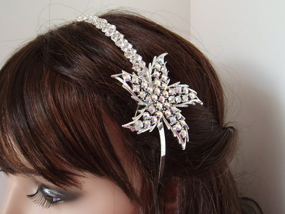Wedding Headband Rhinestone Headbands Headpiece Vintage Crystal, Accessories, Bridal Hair Piece Accessory, Silver