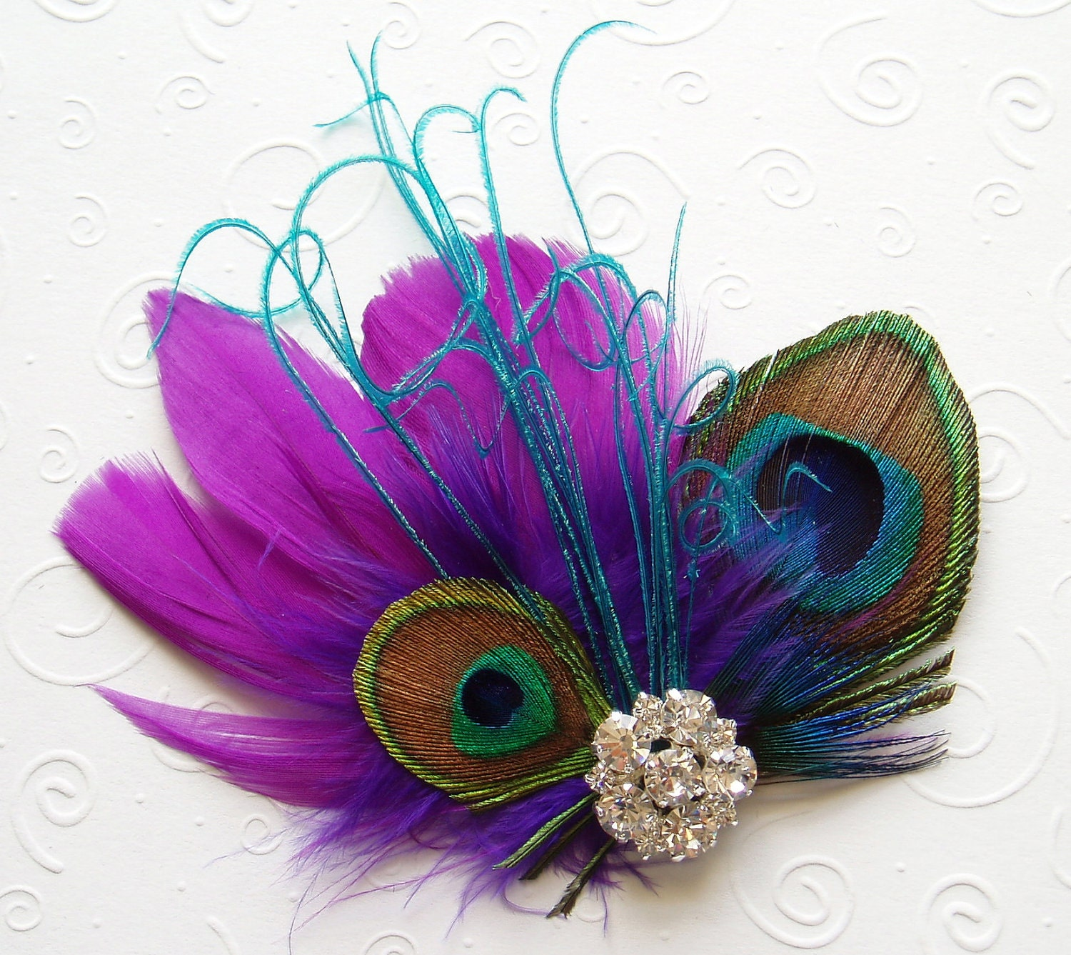 Purple Peacock Feather Clip Art