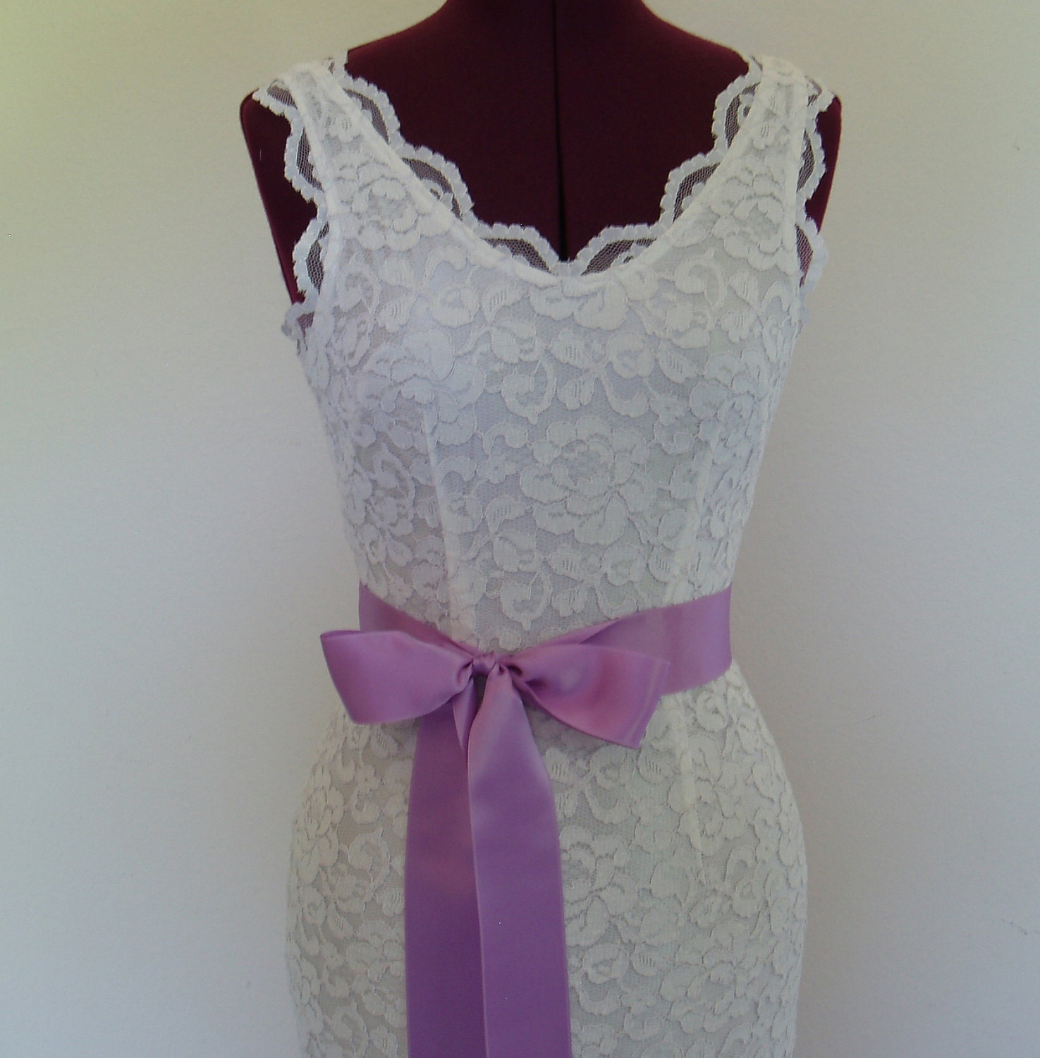 lilac purple wedding sash plain bridal dress belt bridesmaid