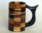 Lets Get Busy Wood Mug