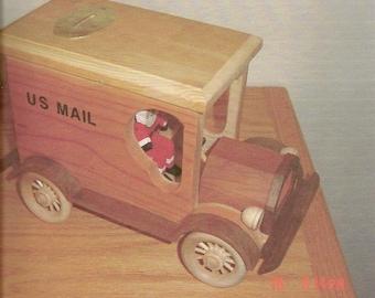 Antique P.O.Lock Box Bank/Santa