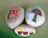 Cupcakes, Mushroom, and Book - Story Stone Accessory Set