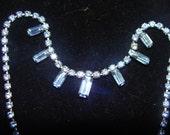 Blue Vintage Rhinestone necklace