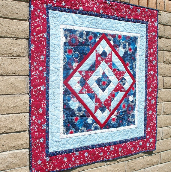 Patriotic Quilt Wall Hanging or Table Topper Quilts of Valor