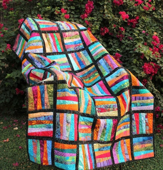 RESERVED for BIFFAN ONLY - Zig Zag Batik Lap Quilt