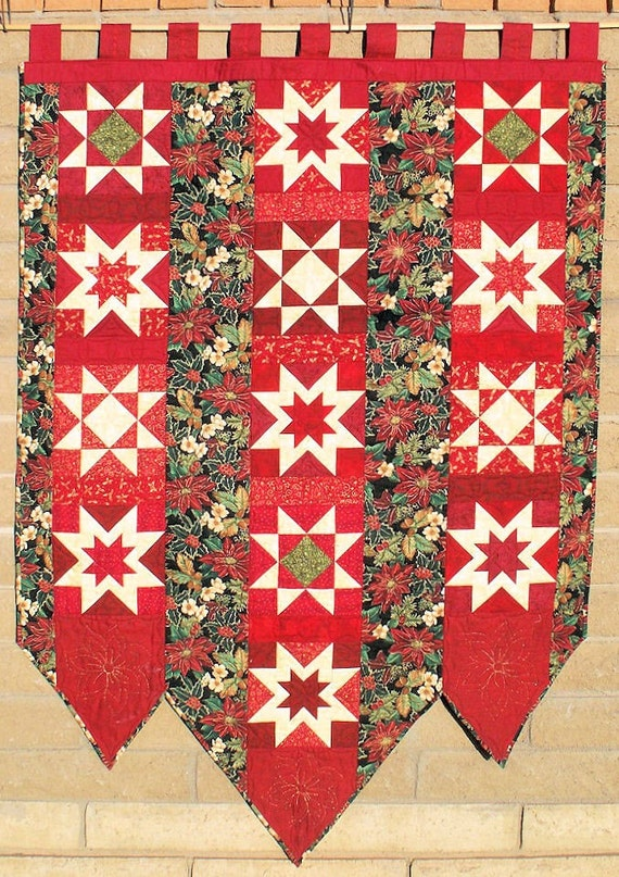 Quilted Wall Hanging Banner For Christmas