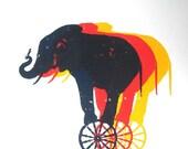 Courageous Elephant Print