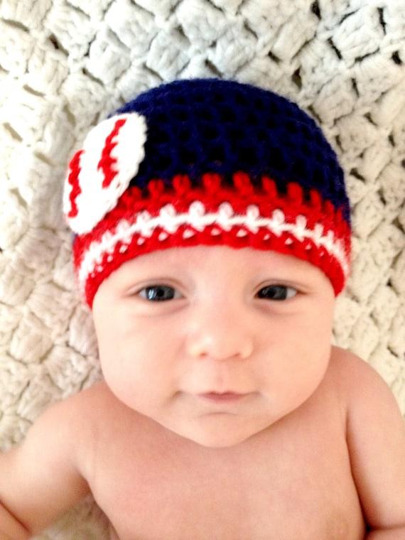 baby baseball hat crochet beanie navy blue by lapofluxury