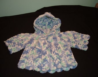 Blue/Green/White Baby Hoodie Sweater