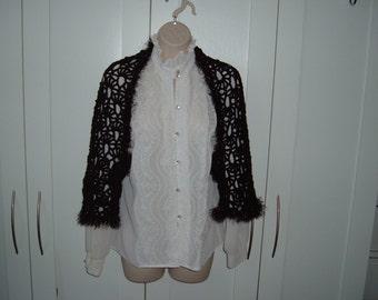 Crochet Black Shrug for Teens or Ladies