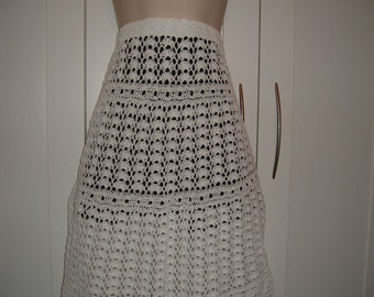 Crochet Skirt in White