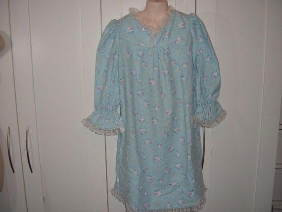Flannel Nightie Blue Sleeping Sheep
