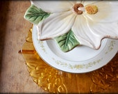 One of a Kind Three Tier Wedding Flower Cake Stand Dessert Plate Jewelry Holder 4th of July picnic