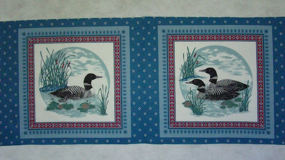 Loon Pillow Panels