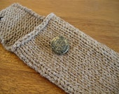 Toasted Almond Knit Gadget Case / iPhone iPod Pouch