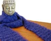 Knit Neck Scarf / Deep Purple Grape / Flashy Glamourous / Extra Long